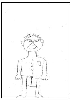 דוגמא לציור אדם במבחני מיון 5