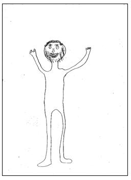 דוגמא לציור אדם 7 מבחני מיון